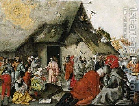The parable of the Good Shepherd by Dutch School - Reproduction Oil Painting