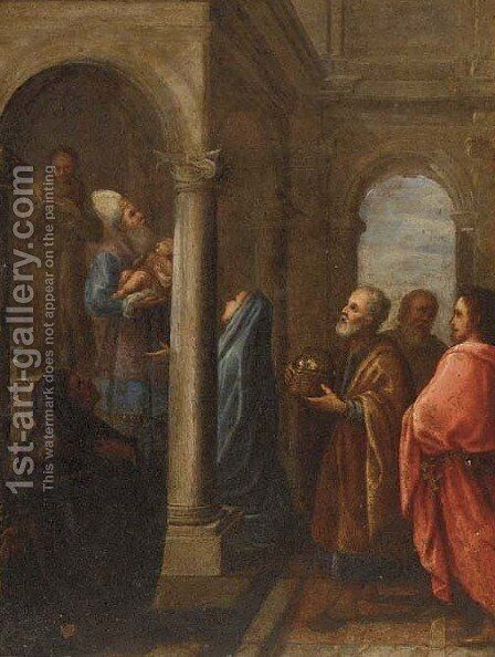 The Presentation in the Temple by Dutch School - Reproduction Oil Painting