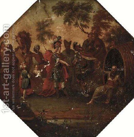 Alexander and Diogenes by Dutch School - Reproduction Oil Painting