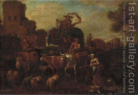 The travelling circus by Dutch School - Reproduction Oil Painting