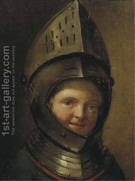 The young Knight by Dutch School - Reproduction Oil Painting