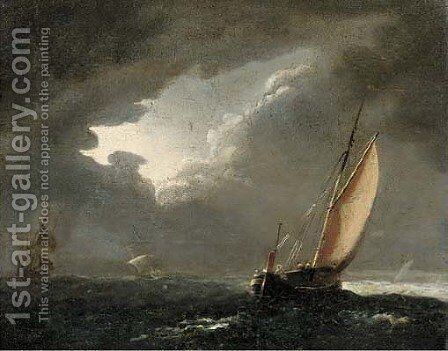 A break in the clouds by Dutch School - Reproduction Oil Painting