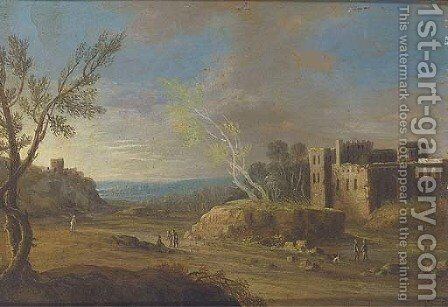 Figures before a ruin; and Another similar by Dutch School - Reproduction Oil Painting