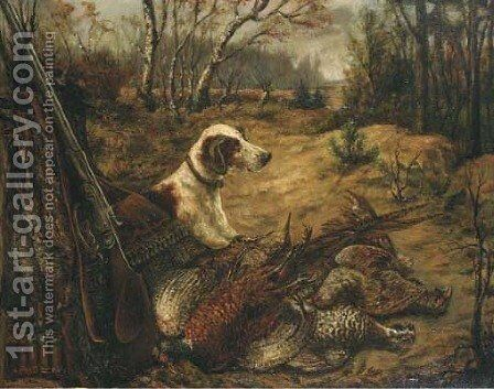 Hunting attributes by Dutch School - Reproduction Oil Painting