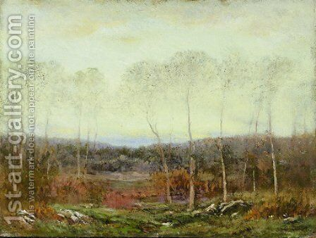 Autumn Evening by Dwight William Tryon - Reproduction Oil Painting