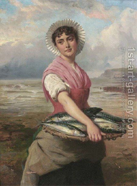 The fish wife by Edward Charles Barnes - Reproduction Oil Painting