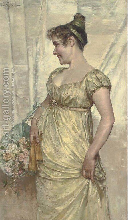 The debutante by E. Giachi - Reproduction Oil Painting