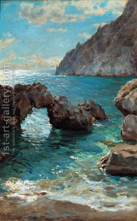 Capri 2 by Augusto Lovatti - Reproduction Oil Painting