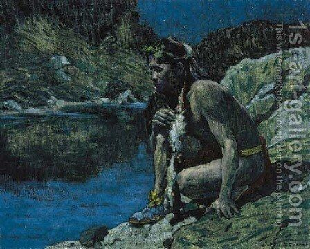 Evening Solitude by Eanger Irving Couse - Reproduction Oil Painting