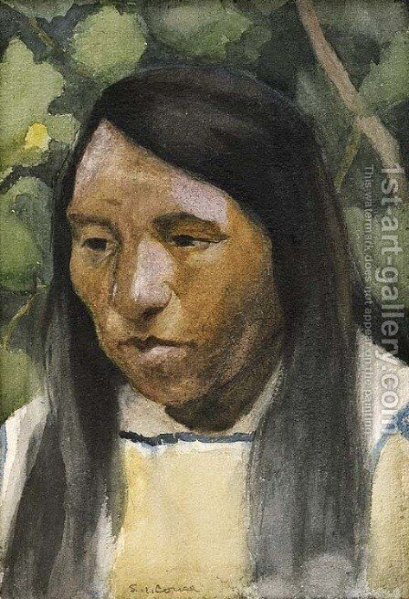 Indian Portrait by Eanger Irving Couse - Reproduction Oil Painting