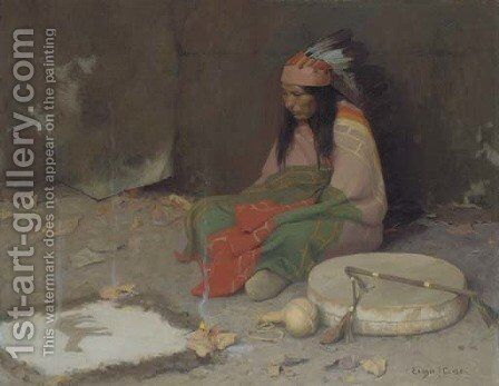Medicine Man by Eanger Irving Couse - Reproduction Oil Painting