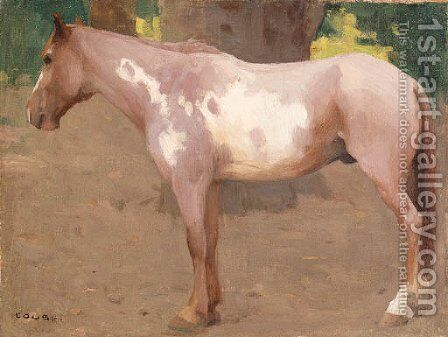 Pinto Pony and Concierge by Eanger Irving Couse - Reproduction Oil Painting