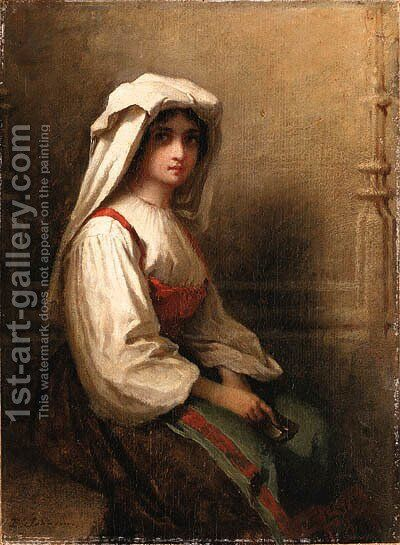 Portrait of a woman 2 by Eastman Johnson - Reproduction Oil Painting