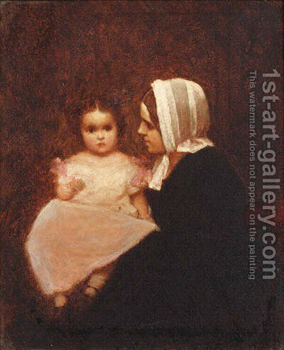 Untitled by Eastman Johnson - Reproduction Oil Painting