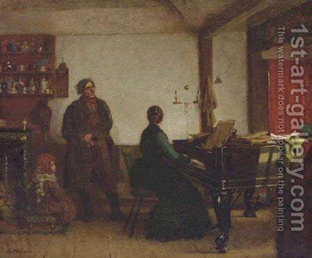 Play Me a Tune by Eastman Johnson - Reproduction Oil Painting