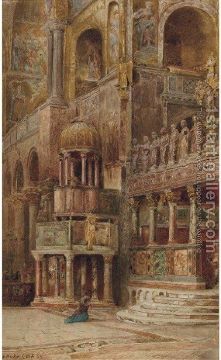 In the Basilico San Marco, Venice by Ebenezer Wake Cook - Reproduction Oil Painting