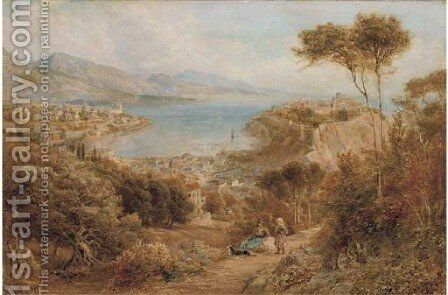 Monte Carlo from the hills above by Ebenezer Wake Cook - Reproduction Oil Painting