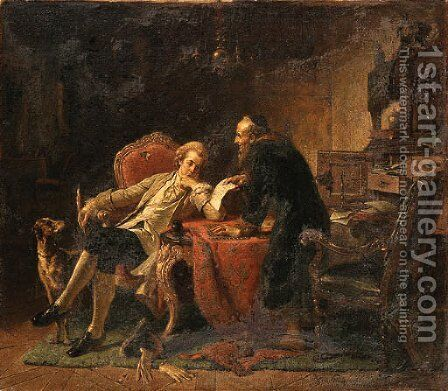The moneylender by Eberhard Stammel - Reproduction Oil Painting