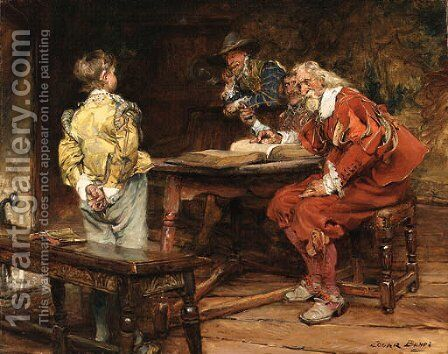 The prodigy by Edgar Bundy - Reproduction Oil Painting