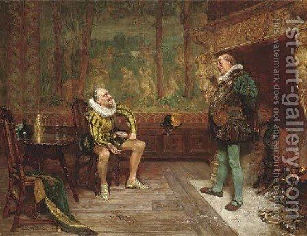 Old Cronies by Edgar Bundy - Reproduction Oil Painting