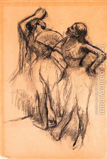 Deux danseuses 2 by Edgar Degas - Reproduction Oil Painting