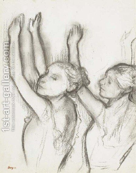 Deux danseuses 4 by Edgar Degas - Reproduction Oil Painting