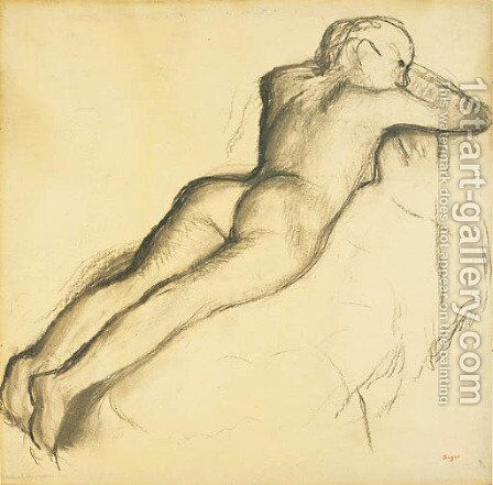 Femme nue couchee by Edgar Degas - Reproduction Oil Painting