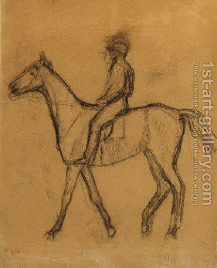 Jockey a cheval by Edgar Degas - Reproduction Oil Painting