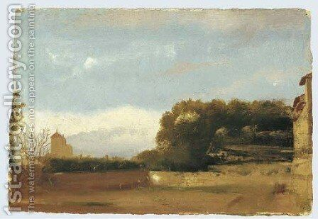 Paysage d'Italie by Edgar Degas - Reproduction Oil Painting