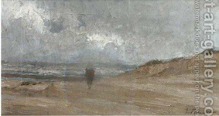 Walking on the beach by Edgard Farasyn - Reproduction Oil Painting