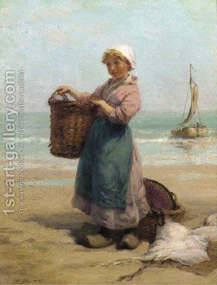 The fishergirl by Edith Hume - Reproduction Oil Painting