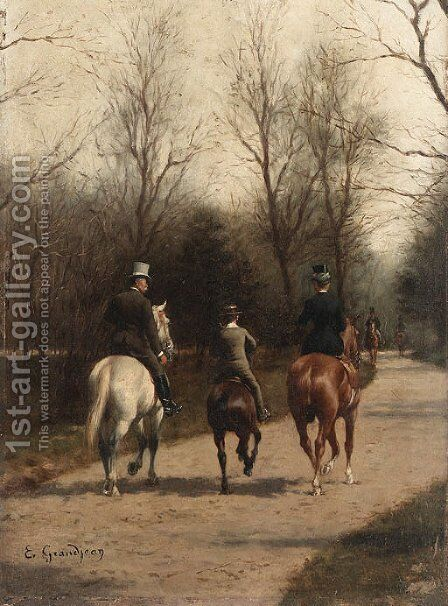 Untitled by Edmond Georges Grandjean - Reproduction Oil Painting