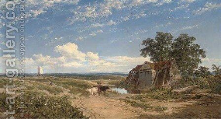 Near Missenden, Buckinghamshire by Edmund John Niemann, Snr. - Reproduction Oil Painting