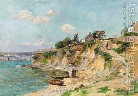 The bay at Audierne by Edmond Marie Petitjean - Reproduction Oil Painting