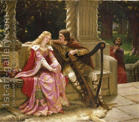 The End of the Song by Edmund Blair Blair Leighton - Reproduction Oil Painting