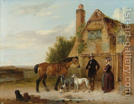 Setting off for the Morning Ride by Edmund Bristow - Reproduction Oil Painting