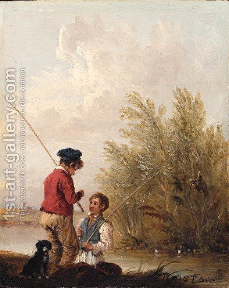 The Young Fisherman by Edmund Bristow - Reproduction Oil Painting