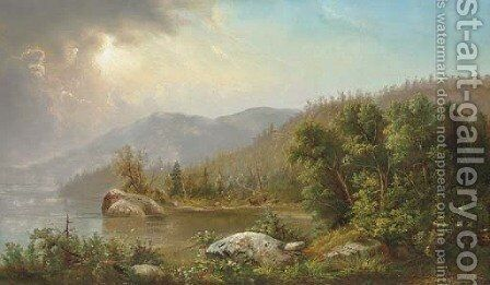 Gathering Storm by Edmund Darch Lewis - Reproduction Oil Painting
