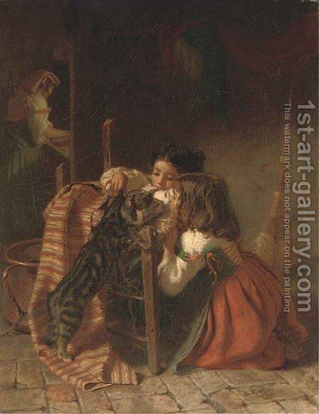 Caught again by Edmund Eagles - Reproduction Oil Painting