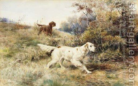A Brace on Point by Edmund Henry Osthaus - Reproduction Oil Painting