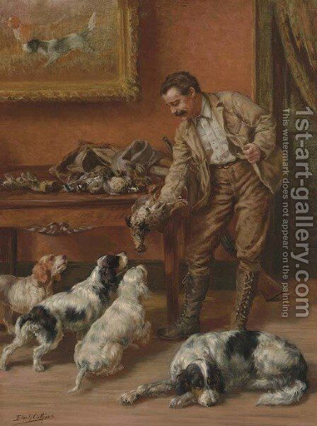 A Huntsman Returning Home with Game by Edmund Henry Osthaus - Reproduction Oil Painting