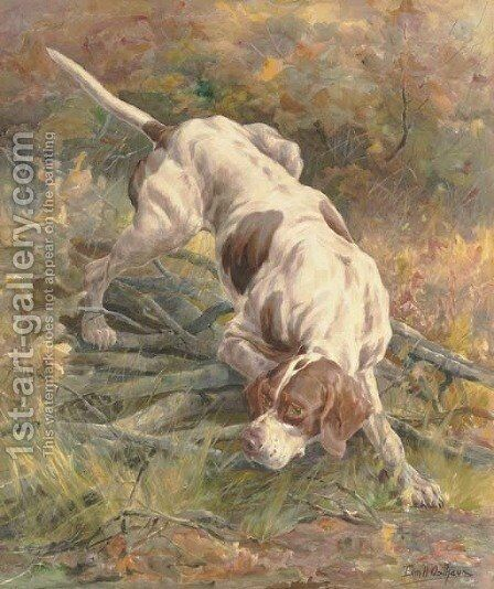 A Pointer on the Scent by Edmund Henry Osthaus - Reproduction Oil Painting