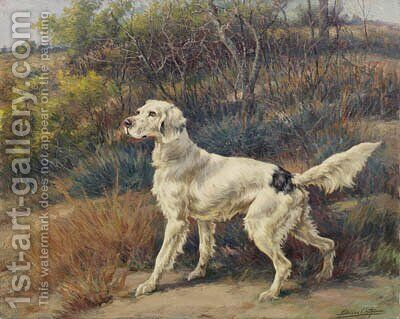 A Setter in a Landscape by Edmund Henry Osthaus - Reproduction Oil Painting