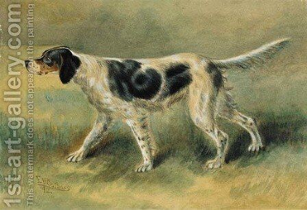 An English Setter by Edmund Henry Osthaus - Reproduction Oil Painting