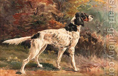 An English Setter 2 by Edmund Henry Osthaus - Reproduction Oil Painting