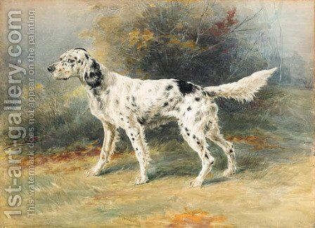 An English Setter in a landscape by Edmund Henry Osthaus - Reproduction Oil Painting