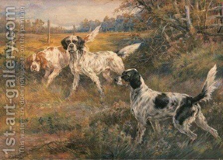 Three Setters by Edmund Henry Osthaus - Reproduction Oil Painting