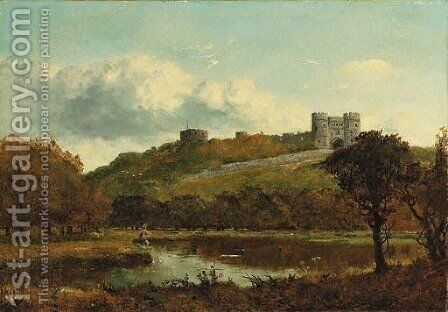 Carisbrooke Castle, Isle of Wight by Edward H. Niemann - Reproduction Oil Painting