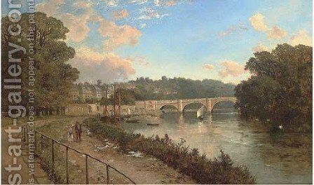 Richmond-on-Thames, Surrey by Edward H. Niemann - Reproduction Oil Painting