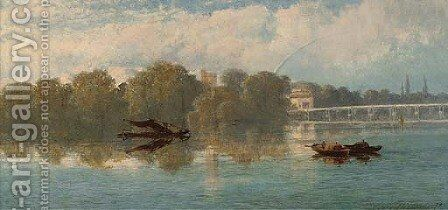 The Thames at Putney by Edward H. Niemann - Reproduction Oil Painting